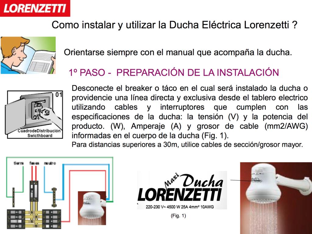 Como instalar y utilizar la ducha el ctrica lorenzetti for Como funciona una regadera electrica