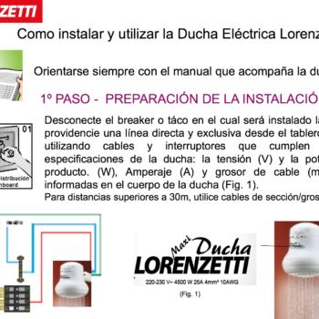 Lorenzetti for Como instalar una terma electrica